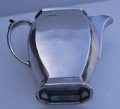 ART DECO STYLE SOLID SILVER JUG - HALLMARKED SHEFFIELD 1939 - 234g