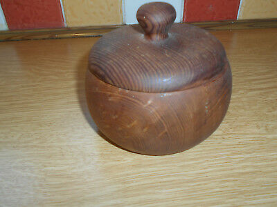 Turned Redwood Treen Pot