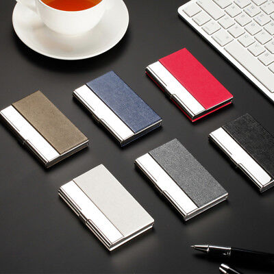 Pocket Stainless Steel & Metal Business Card Holder Case ID Credit Wallet