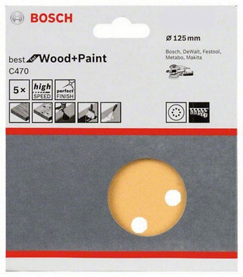 Bosch Sanding Paper Sheet for GEX-125 #40,#60,#80,#100,~,#400