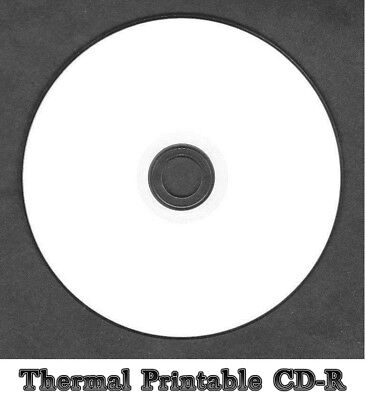10x White Top Thermal Printable CD-R Disc Full Face  (52x 80min 700MB)