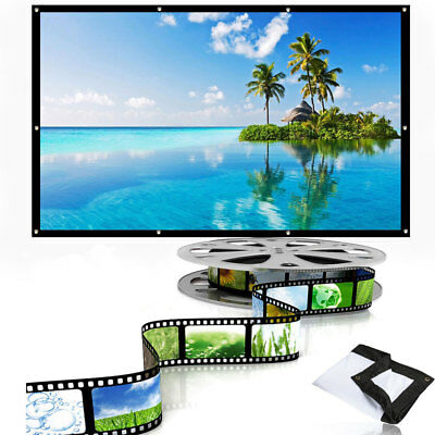 Projection Screen Courtyard School Durable Portable 16:9 Foldable