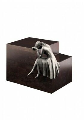Beaminster Cremation Ashes Urn Weeping Angel Steel