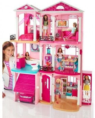 Barbie DreamHouse Playset with 70+ Accessory Pieces, Classic modern rooms New