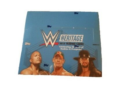 WWE Topps 2015 Heritage Factory Sealed Trading Card Box, 36 x 9 Card Packs