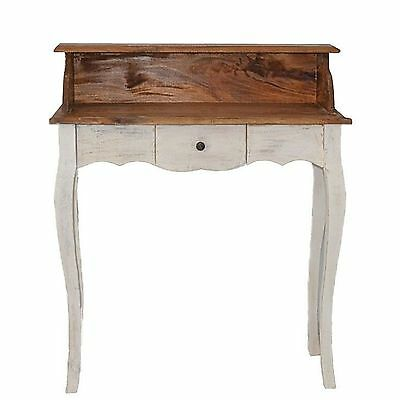 French Style Secretary Table Dressing Table Wood Oak White Vintage Retro