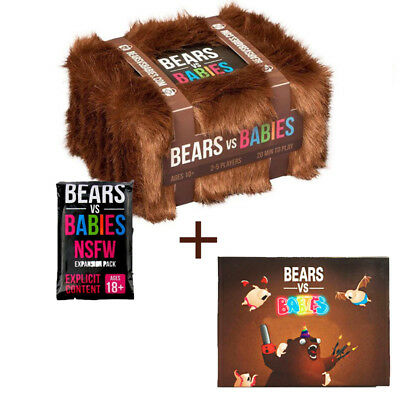 Bears vs Babies Card Game Creators of Exploding Kittens+NSFW Pack & Novelty Card