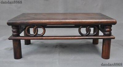 old Chinese dynasty noble huanghuali wood hand carving Ancient table desk Tables
