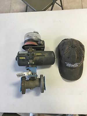 "Air Actuated 1"" Valve Niles Jamesbury SP18SR80-B Paper Water Mining Processing"