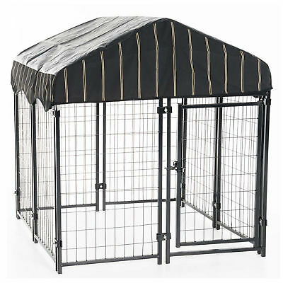 Walk In Dog Kennel Cage w Waterproof Cover Chicken Rabbit Run Pen 4 x 4 x 4.3ft