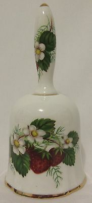 Vintage Porcelain Bell Hammersley Strawberry Ripe Made in England Bone China
