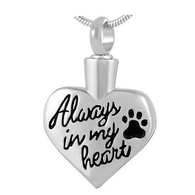 Cremation Jewellery for Ashes Memorial pendant Pet Necklace Keepsake Urn heart