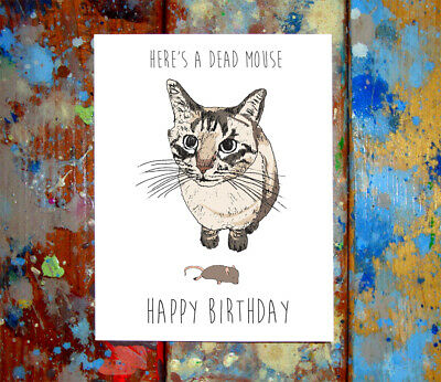 Funny Cat Happy Birthday Greeting Card Cats Kitty Kitties Kitten Kittens