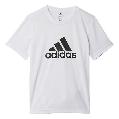 (blanc/noir, 140) - T-shirt junior adidas Gear Up. Shipping Included