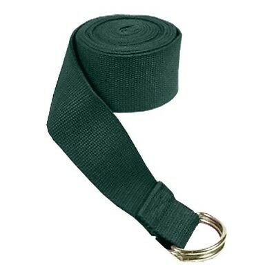 (3.8cm  x 1.8m, Green) - Yoga Strap - D-Ring Buckle. Nu-Source. Shipping is Free