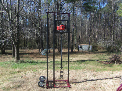 Water Well Drilling Rig, Complete Drilling System w/30' of Rods, and Auger