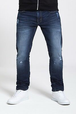 Mens Slim Fit Stretch Jeans In Dark Wash  (Evolution)