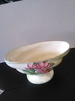 Large Maling Pottery Bowl/Vase - Smashing! Floral Design- 10% Donated to Charity