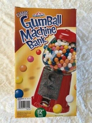 """Classic Candy Gumball Machine and Bank, 12"""" Tall, By Carousel   NIB!"""