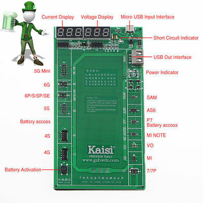 Professional Battery Activation Charge Board for iPhone Samsung Huawei Xiaomi