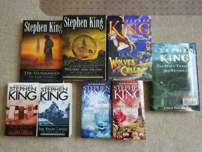 Stephen King - The Dark Tower series - Lot of 8 books