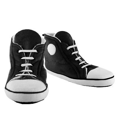 Slippers Men's retro Hi-Top trainer black soft comfy fabric (size 8 to 10)
