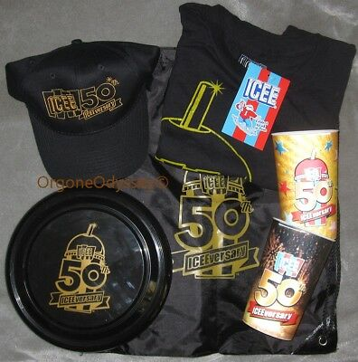 ICEE 50Th Anniversary 2017 PROMO Merchandise - T-Shirt, Frisbee, Hat, Bag & Cups