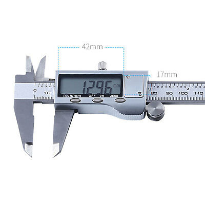0-150mm 0.01mm Digital Electronic Stainless Micrometer Caliper Set LCD Display
