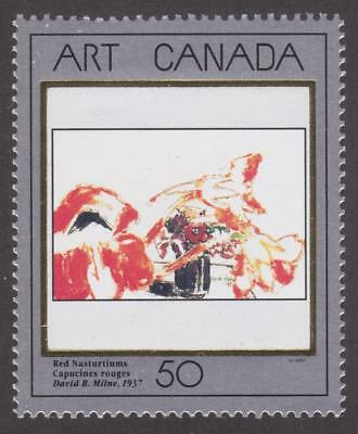 CANADA 1992 # 1419 - Masterpieces of Canadian Art 5  (Red Nasturtiums) - MNH