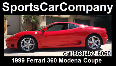 1999 Ferrari 360  1999 FERRARI 360 COUPE F1 RED BLACK FANTASTIC INSIDE &OUT GREAT HISTORY CALL US!