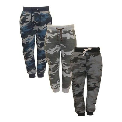 Boy's and Girl's Adjustable Waist Camo Jogging Bottom Sweatpants Trousers