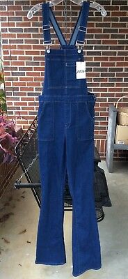 190e2afc2ca New with Tags Gap 1969 Dark Indigo Denim Slim Flare Leg Overalls Small    Tall
