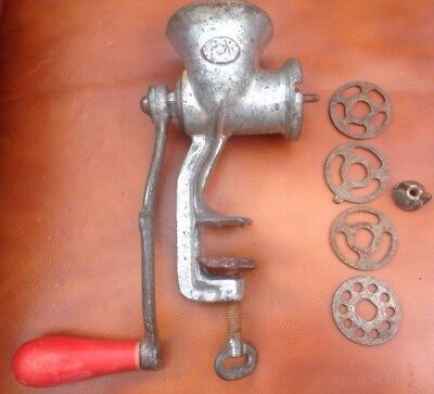 Vintage Metal Spong 25 Grinder Meat Wine Making Table Clamp Kitchen Old