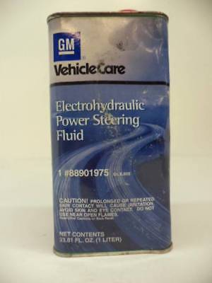 Brand New Gm Electrohydraulic Power Steering Fluid 1 Liter 2 Pack 88901975 H4 P1