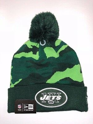 33669d33670 New York Jets Team NFL Beanie Knit Hat winter Cap with Pom Sport New Era