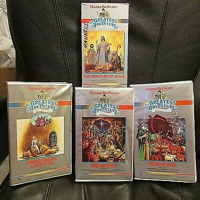 Lot Of 4 Hanna Barbera's The Greatest Adventure Stories From The Bible