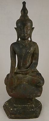 "Antique Patinaed Bronze Burmese Shan Buddha, 17/18th c. 11 ¼"" tall. 5lb. 1oz."