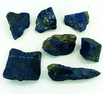 500.00 Ct Natural Blue Lapis Lazuli Loose Gemstone Stone Rough Lot 7 Pcs - 5460