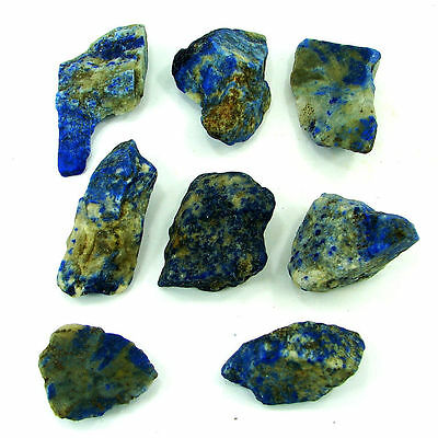 500.00 Ct Natural Blue Lapis Lazuli Loose Gemstone Stone Rough Lot 8 Pcs - 5468
