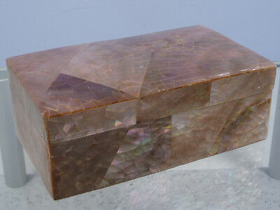 Beautiful Old Antique Mother Of Pearl Box For Jewellery
