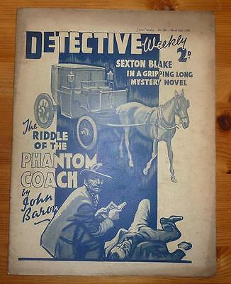 DETECTIVE WEEKLY No 266 26TH MAR 1938 THE RIDDLE OF THE PHANTOM COACH, J. BARON