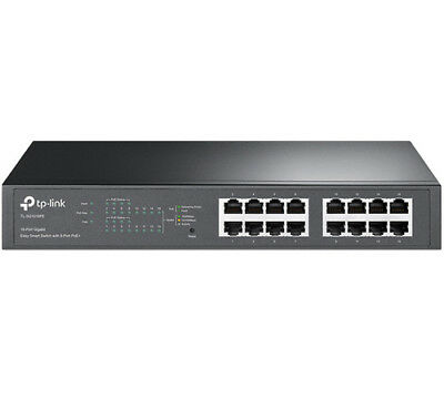 TP-Link TL-SG1016PE 16-Port Gigabit PoE+ Easy Smart Managed Switch