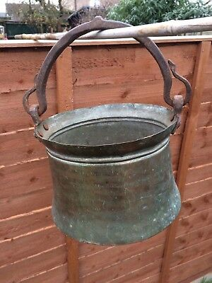 Stunning Old Large Copper Cauldron / Cooking Pot / Planter