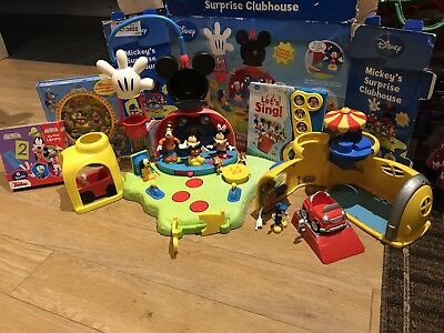 Fisher Price Mickey Mouse Surprise Clubhouse Play Set Toys and Books