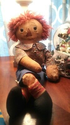 TLC ORIGINAL Georgene Raggedy Andy 1930s with Black Outlined Nose