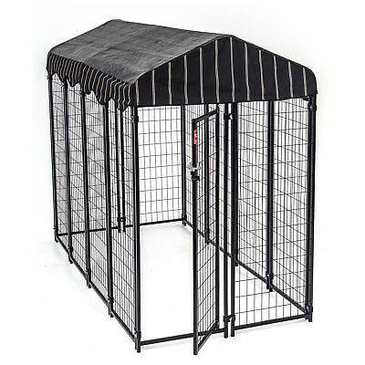 Dog Puppy Kennel Walk In Cage w Weatherproof Cover Chicken Rabbit Pen Run