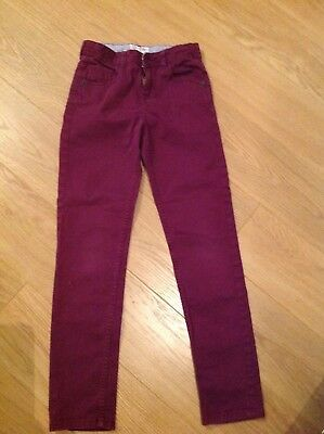 Girls Fat Face burgundy trousers aged 10 - 11years