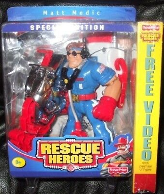 Fisher Price Rescue Heroes Matt Medic [Special Edition]. Fisher-Price. Brand New