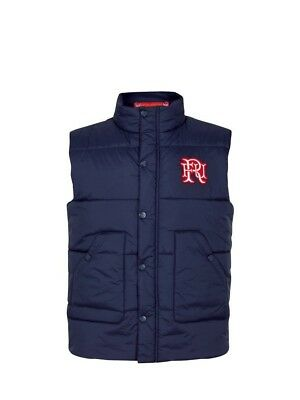 (Large, Z73 Navy) - Front Up Rugby Men's Quilted Gilet Jackets. Delivery is Free
