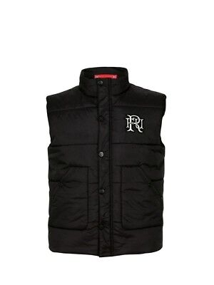 (X-Large, Z78 Black) - Front Up Rugby Men's Quilted Gilet Jackets